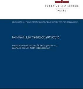Non Profit Law Yearbook 2015/2016