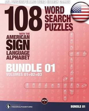108 Word Search Puzzles with the American Sign Language Alphabet
