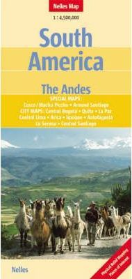 South America, The Andes Nelles Map