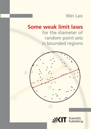 Some weak limit laws for the diameter of random point sets in bounded regions