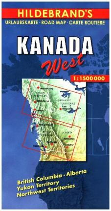 Travel Map Of Canada.Hildebrand S Travel Map Canada 9783889892782