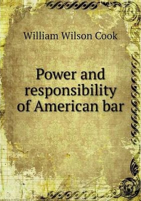 Power and responsibility of American bar