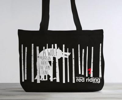 The Little Red Riding Hood: Organic Cotton Tote Bag