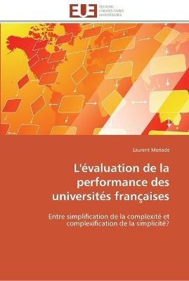 L'�valuation de la Performance Des Universit�s Fran�aises