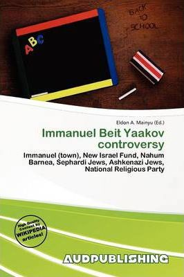 Immanuel Beit Yaakov Controversy