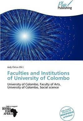 Faculties and Institutions of University of Colombo