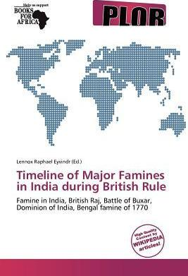 Timeline of Major Famines in India During British Rule