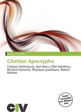 Citation Apocryphe