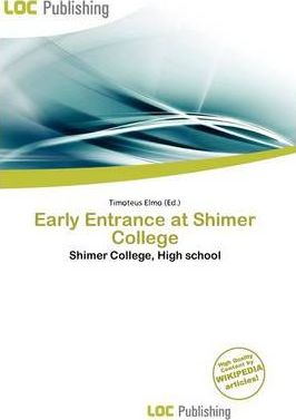 Early Entrance at Shimer College