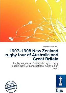 1907-1908 New Zealand Rugby Tour of Australia and Great Britain