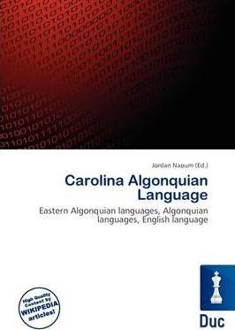 Carolina Algonquian Language