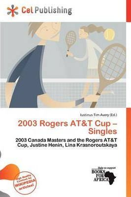 2003 Rogers AT&T Cup - Singles
