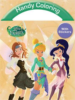 Handy Coloring with Stickers - Disney Fairies
