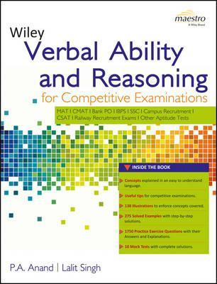 Wiley's Verbal Ability and Reasoning for Competitive Examinations