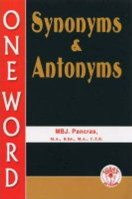 Synomyms and Antonyms