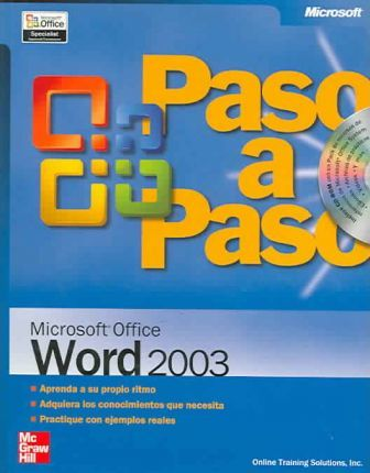 Paso a paso Microsoft Office Word 2003/Microsoft Office Word 2003 step by step