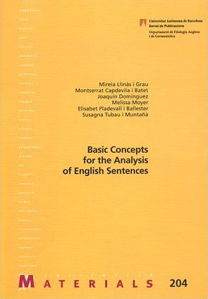 Basics concepts for the anlysis of English sentences