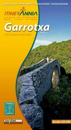 Garrotxa Itinerannia Map and Hiking Guide Footpaths Network