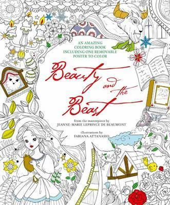 Beauty And The Beast Colouring Book Removable Poster