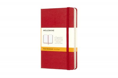 Moleskine Pocket Ruled Hardcover Notebook Red