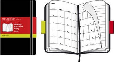 2010 Moleskine Extra Large Monthly Notebook 12 Month Soft