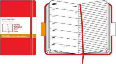 Pocket Weekly Diary 2010 Red,Hard Cover