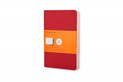 Moleskine Ruled Cahier L - Red Cover (3 SET)