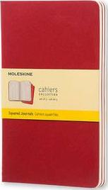 Moleskine Squared Cahier L - Red Cover (3 Set)