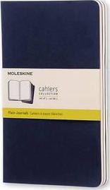 Moleskine Plain Cahier L - Navy Cover (3 Set)