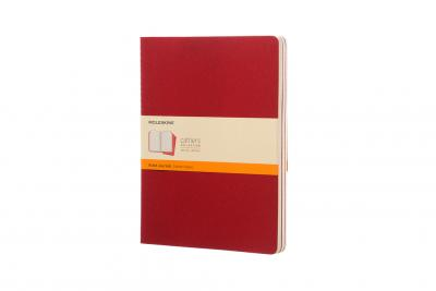 Moleskine Ruled Cahier Xl - Red Cover (3 Set)