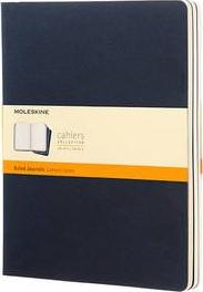 Moleskine Ruled Cahier Xl - Blue Cover (3 Set)