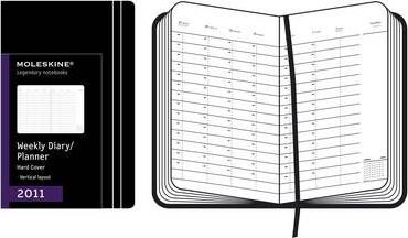 Moleskine A4 Weekly Vertical Diary Hard 12 Months 2011
