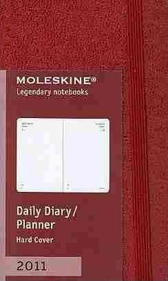 Moleskine Extra Small Maroon Daily Diary 12 Month H