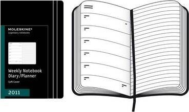 2011 Moleskine Extra Large Weekly Notebook 12 Months Soft