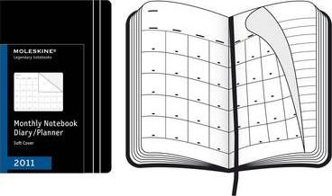 2011 Moleskine Extra Large Monthly Notebook 12 Month Soft