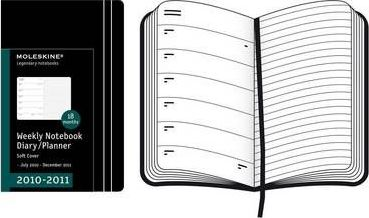 Moleskine Extra Large Weekly Notebook 18 Months Soft 2011