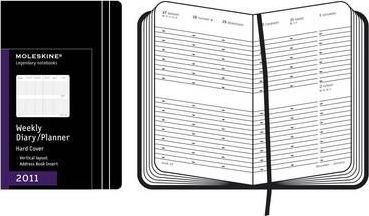 2011 Moleskine Pocket Diary Weekly Vertical Hard