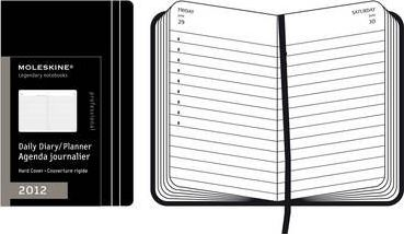 2012 Moleskine A4 Daily Diary 12 Months Hard