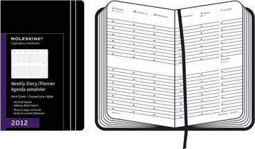 2012 Moleskine Pocket Diary Weekly Vertical Hard