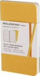 Moleskine Volant Extra Small Ruled Orange Yellow & Cadmium Orange 2-set