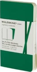 Moleskine Volant Extra Small Plain Emerald Green & Oxide Green 2-set
