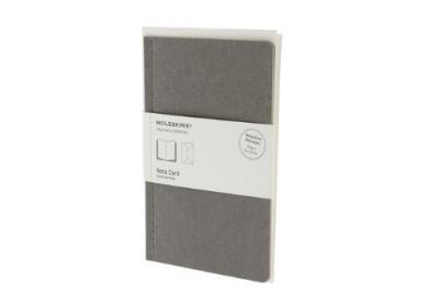 Moleskine Note Card With Envelope - Large Pebble Grey