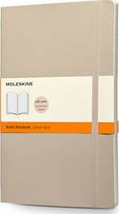 Moleskine Soft Large Khaki Beige Ruled Notebook