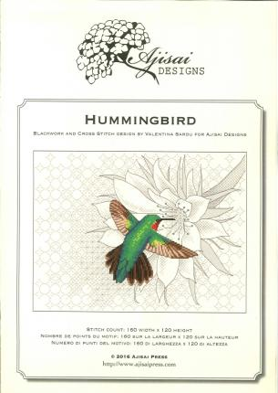 Hummingbird. Cross stitch and blackwork design. Ediz. italiana, inglese e francese