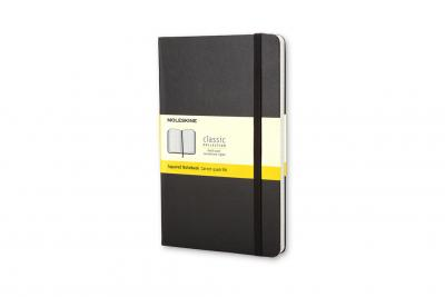 Moleskine Pocket Squared Hardcover Notebook Black