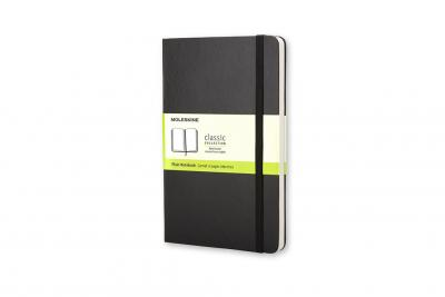 Moleskine Pocket Plain Hardcover Notebook Black