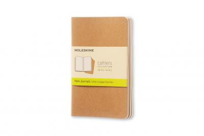 MOLESKINE PLAIN CAHIER - KRAFT COVER (3 SET)