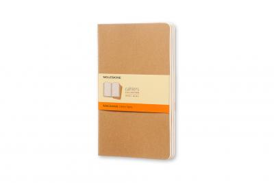 MOLESKINE RULED CAHIER L - KRAFT COVER (3 SET)