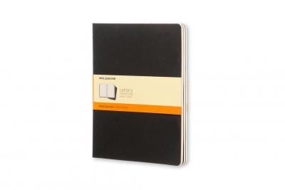 MOLESKINE RULED CAHIER XL - BLACK COVER (3 SET)