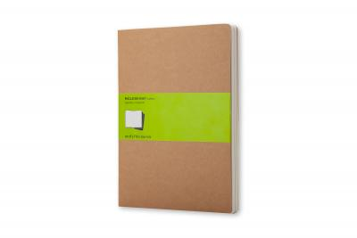 Moleskine Cahier Journal (Set of 3), Extra Large, Plain, Kraft Brown, Soft Cover (7.5 X 10)